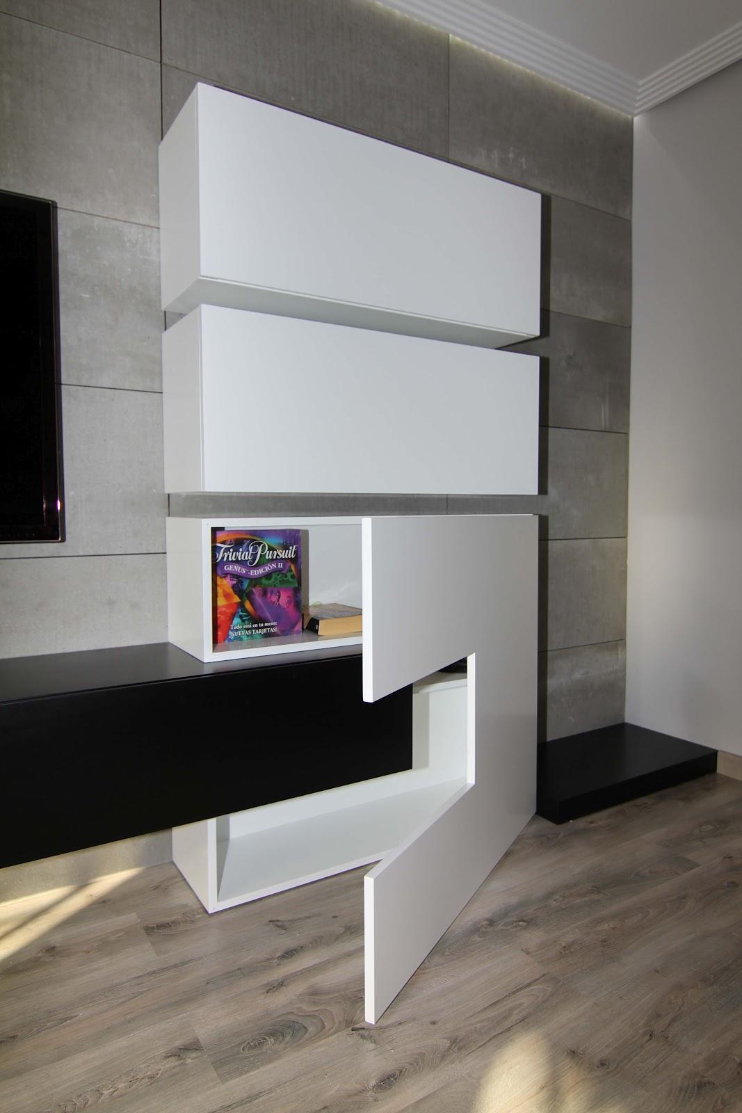 Proyecto Mueble Funcional Diseño De Mobiliario A Medida: Proyectos De Carpintería En Valencia -Salón Comedor A Medida